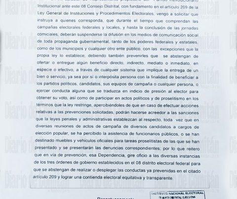 QUE SERVIDORES PÚBLICOS NO PARTICIPEN EN ACTOS POLÍTICOS