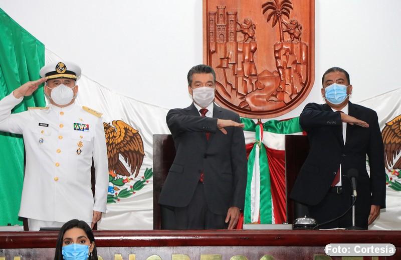 GOBERNADOR RECONOCE LA MISIÓN DE LA MARINA ARMADA DE MÉXICO